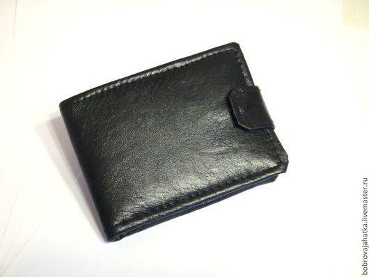 Кошельки и визитницы ручной работы. Ярмарка Мастеров - ручная работа. Купить Черный кошелек кожа Secret Кожаный бумажник Подарок мужчине портмоне. Handmade.
