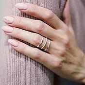 Украшения handmade. Livemaster - original item Ring made of silver with cubic Zirconia dimensionless. Handmade.