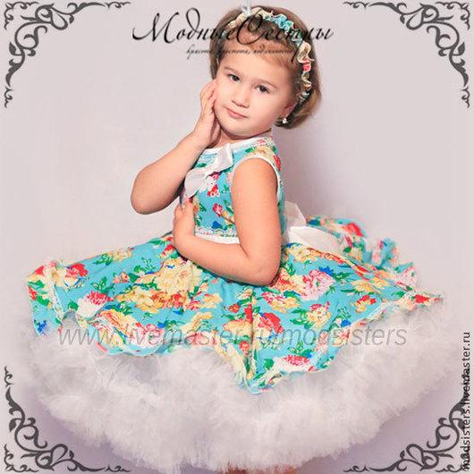 """Одежда для девочек, ручной работы. Ярмарка Мастеров - ручная работа. Купить Детское платье """"Цветы"""" Арт.157. Handmade."""