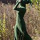 """Платья ручной работы. Заказать Зеленое флисовое платье """"Фиона"""". Elven Forest. Ярмарка Мастеров. Зеленое платье, эльфийская одежда"""