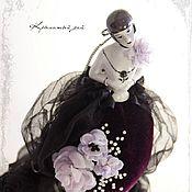 Куклы и игрушки ручной работы. Ярмарка Мастеров - ручная работа Будуарная кукла-игольница из антикварной half doll. Handmade.