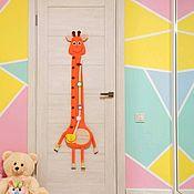 Для дома и интерьера handmade. Livemaster - original item Height Chart Giraffe. Handmade.