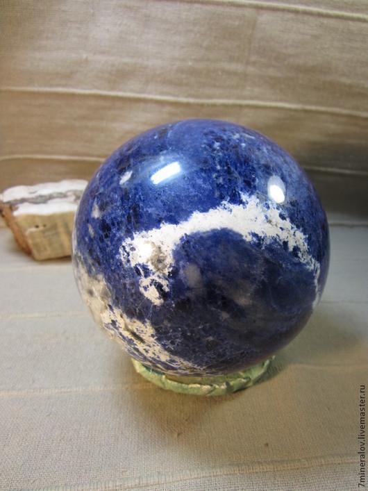 """Статуэтки ручной работы. Ярмарка Мастеров - ручная работа. Купить 110мм. Содалит """"Голубой шар"""" Природный камень. Handmade."""