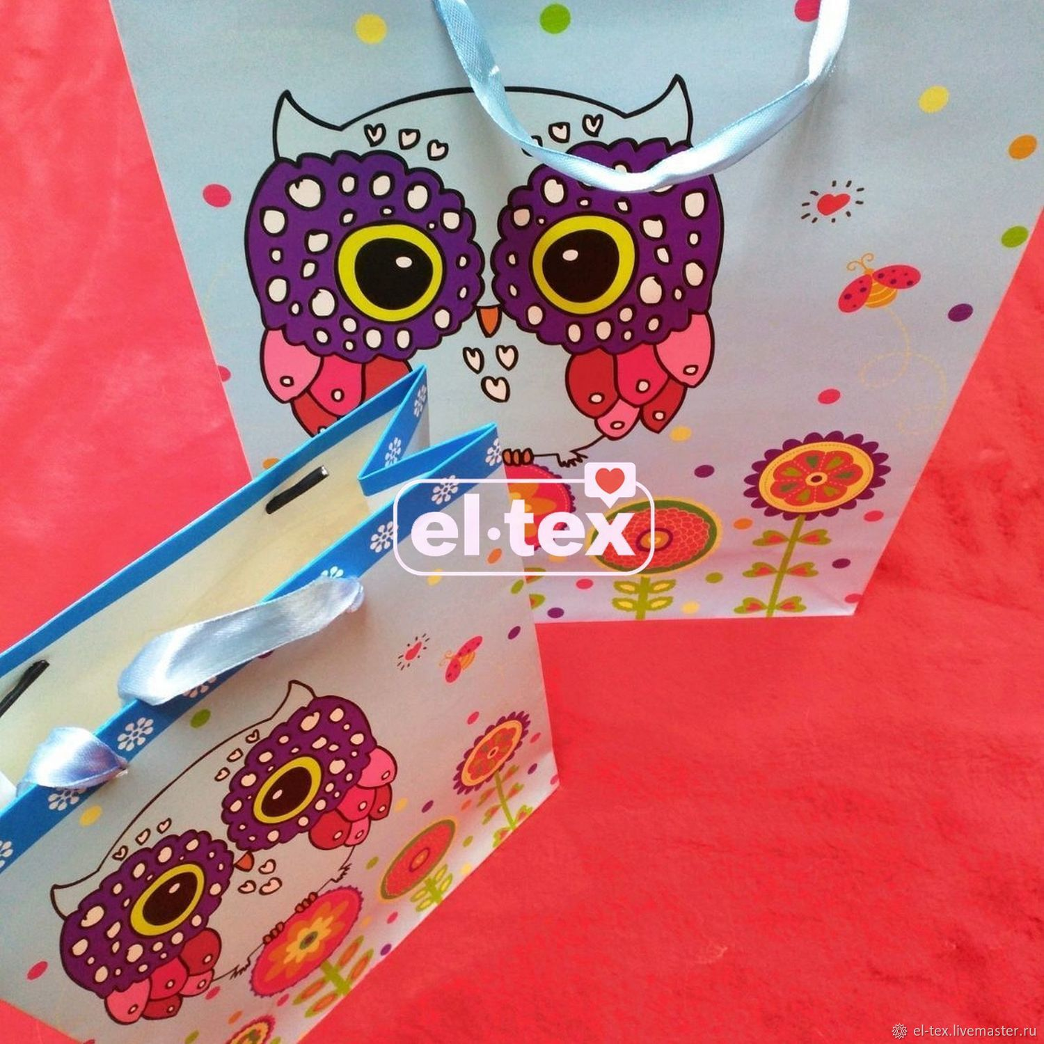 Gift package 'Owls', 32h26h10 cm, art. JLZD-1051, Gift wrap, Moscow,  Фото №1