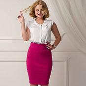 """Skirts handmade. Livemaster - original item Юбка карандаш """"Фуксия"""". Handmade."""
