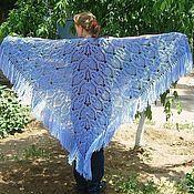Аксессуары handmade. Livemaster - original item shawl knitted vasilek