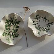 Для дома и интерьера ручной работы. Ярмарка Мастеров - ручная работа Мыльница с волнистыми краями, керамика. Handmade.