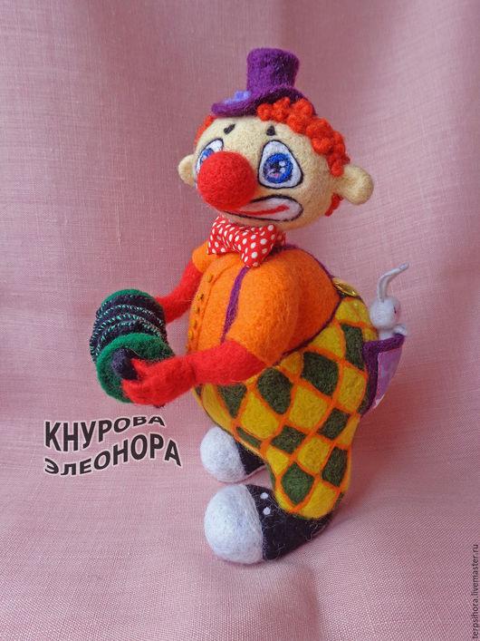 Коллекционные куклы ручной работы. Ярмарка Мастеров - ручная работа. Купить Клоун Жора. Handmade. Рыжий, валяная игрушка, цирк