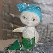 Куклы и игрушки ручной работы. Ярмарка Мастеров - ручная работа новый год игрушка валяная Русалка, Free shiping. Handmade.
