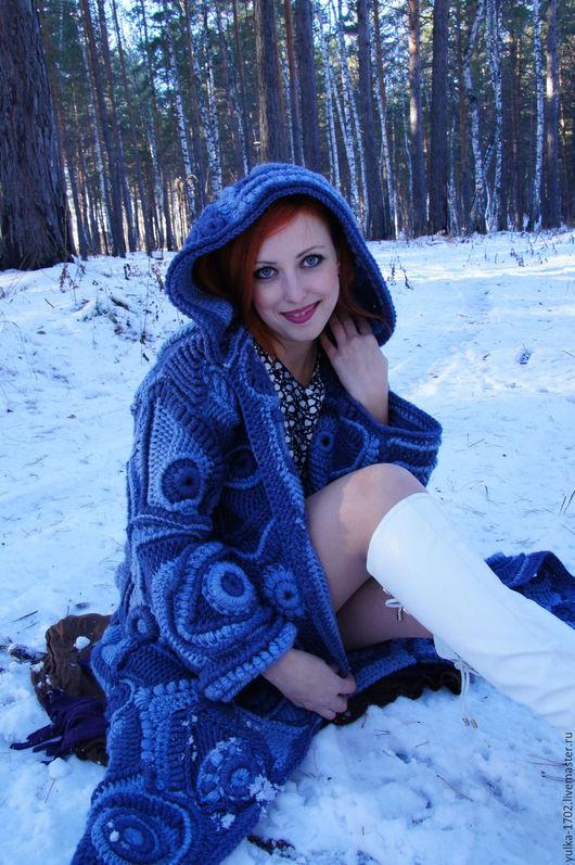 """Верхняя одежда ручной работы. Ярмарка Мастеров - ручная работа. Купить Пальто """"Лунная Соната"""". Handmade. Синий, пальто"""