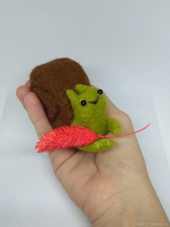 Felt toy: snail, Felted Toy, Stupino,  Фото №1