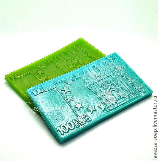 Мыло ручной работы. Ярмарка Мастеров - ручная работа. Купить Мыло 100 евро. Handmade. Ярко-зелёный, мыло сувенирное