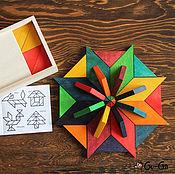 Куклы и игрушки ручной работы. Ярмарка Мастеров - ручная работа Мозаика из дерева 24 элемента. Handmade.