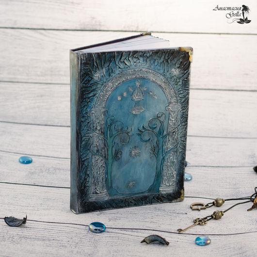 """Блокноты ручной работы. Ярмарка Мастеров - ручная работа. Купить Блокнот ручной работы """"Врата Мории"""". Handmade. Синий, хоббит"""