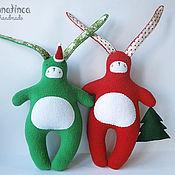Куклы и игрушки ручной работы. Ярмарка Мастеров - ручная работа Новогодние зайцы. Handmade.