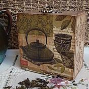 """Для дома и интерьера ручной работы. Ярмарка Мастеров - ручная работа Чайный короб """"Зеленый чай"""". Handmade."""