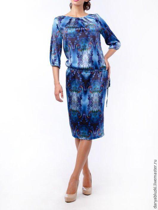 """Платья ручной работы. Ярмарка Мастеров - ручная работа. Купить Платье из шелка """"Яркая леди"""". Handmade. Комбинированный, красивое платье"""