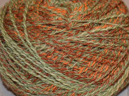Вязание ручной работы. Ярмарка Мастеров - ручная работа. Купить пряжа меланжевая. Handmade. Пряжа ручного прядения, шерстяная пряжа