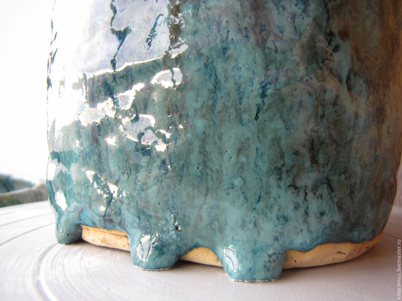 Керамические вазы ручной лепки. Словно пена морская