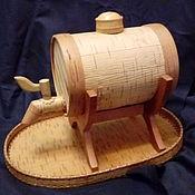 Посуда ручной работы. Ярмарка Мастеров - ручная работа Бочонок для напитков из бересты Любимчик. Handmade.