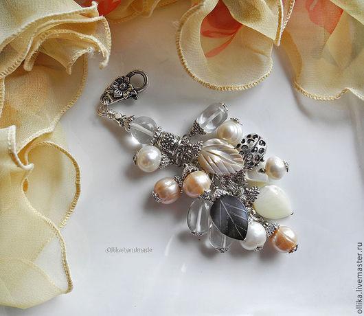 Брелок Нежный необычный брелок, оригинальный подарок, брелок на джинсы, купить в питере брелок, брелок для ключей, серебряный брелок, брелок на сумку для сумки, украшение на сумку, подарок любимому ч
