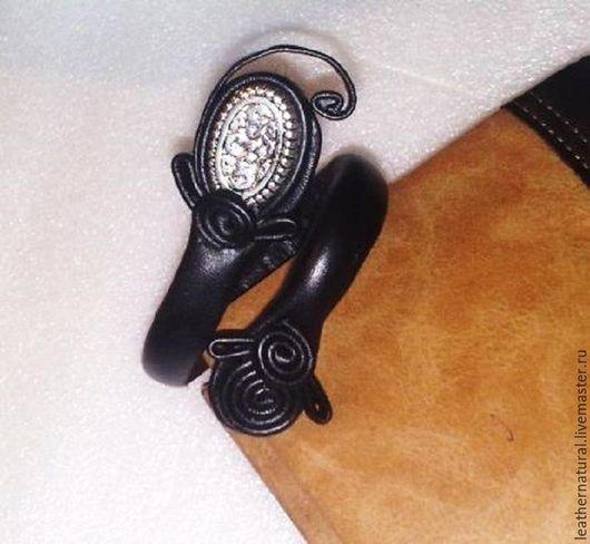 Браслеты ручной работы. Ярмарка Мастеров - ручная работа. Купить Кожаный браслет-трансформер-авторская работа. Handmade. Черный