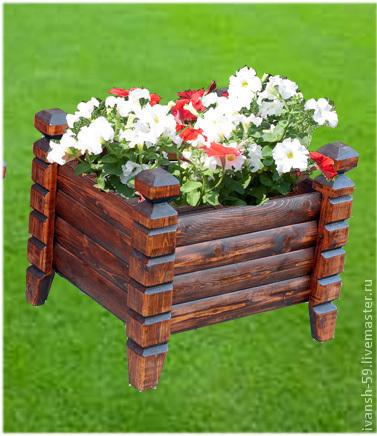 """Ящики для цветов № 4 """"Резные ножки"""", Вазоны, Омск, Фото №1"""