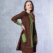 Одежда handmade. Livemaster - original item Warm corduroy dress mixed colors. Handmade.