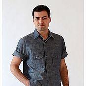 Одежда ручной работы. Ярмарка Мастеров - ручная работа Рубашка РБм -0002. Handmade.
