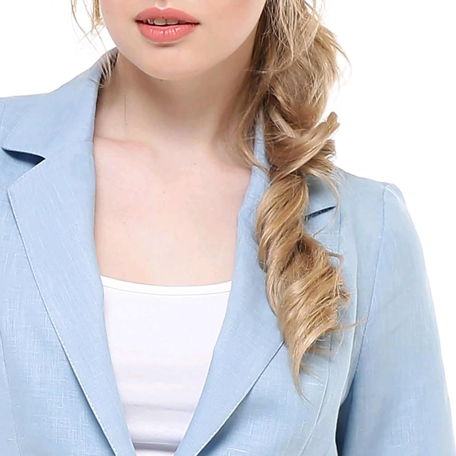 Pale blue jacket made of 100% linen, Suit Jackets, Tomsk,  Фото №1