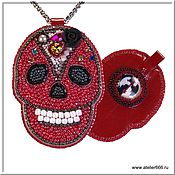 Украшения handmade. Livemaster - original item Red Skull pendant for Powerpuff Girls!. Handmade.