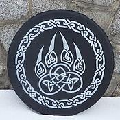 Музыкальные инструменты handmade. Livemaster - original item Printing Velez. Black with silver Vedic tambourine.. Handmade.