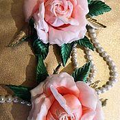 """Свадебный салон ручной работы. Ярмарка Мастеров - ручная работа Роза из японских тканей """"Pretty women"""".. Handmade."""