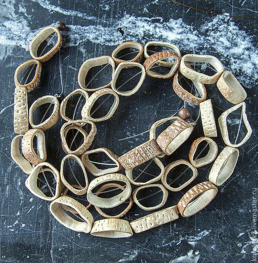 Для украшений ручной работы. Ярмарка Мастеров - ручная работа. Купить Бусины-кольца из ореха дерева Saging-saging, 20 мм. Handmade.