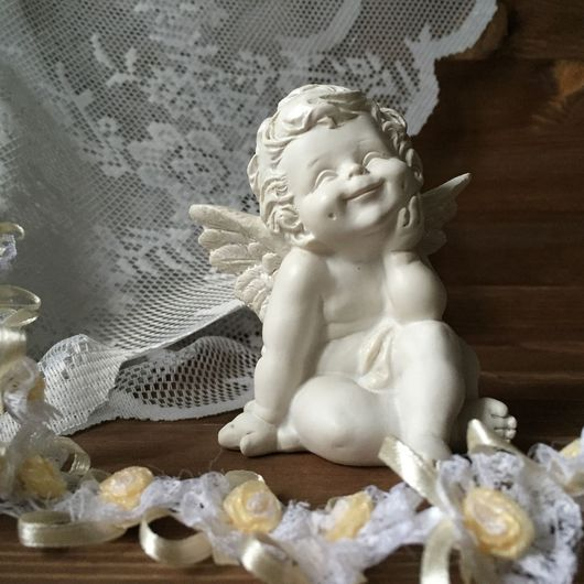 Статуэтки ручной работы. Ярмарка Мастеров - ручная работа. Купить Ангелок. Handmade. Ангел, ангелочки, фигурка, статуэтки из керамики