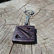 """Аксессуары ручной работы. Ярмарка Мастеров - ручная работа Брелок """"Dota 2"""" из венге. Handmade."""