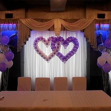 Свадебный салон ручной работы. Ярмарка Мастеров - ручная работа Сердца свадебные из воздушных шаров. Handmade.