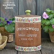 """Для дома и интерьера ручной работы. Ярмарка Мастеров - ручная работа Бочонок """"Springwood"""". Handmade."""