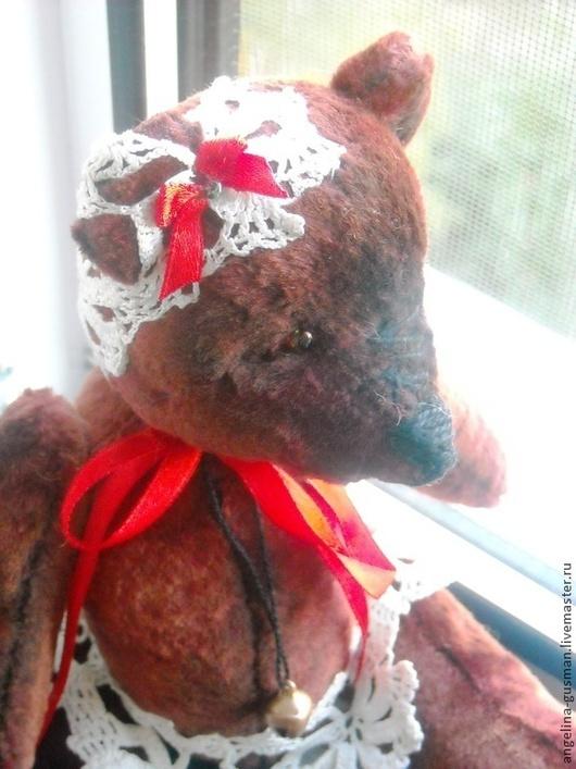 Мишки Тедди ручной работы. Ярмарка Мастеров - ручная работа. Купить Авторская игрушка мишка - тедди  Роззи. Handmade. Бордовый