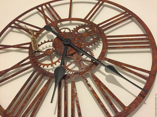 """Часы для дома ручной работы. Ярмарка Мастеров - ручная работа. Купить Часы 60см с ржавчиной """"Kaiku-rooste"""". Handmade."""