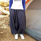 """Одежда ручной работы. Ярмарка Мастеров - ручная работа Льняные юбка-брюки """"Pure Comfort"""". Handmade."""