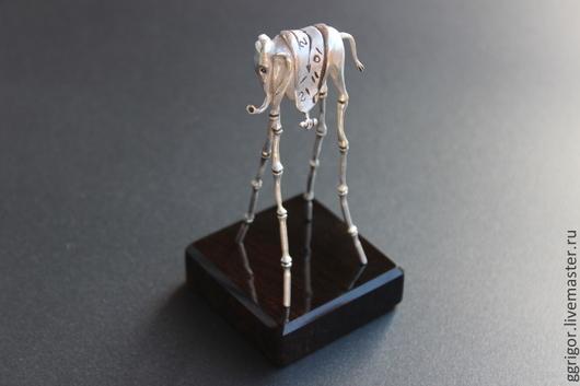 статуэтка ручной работы.статуэтка Слон 3 -Дали, по мотивам творчество Сальвадора Дали.Серебро 925. Ggrigor.Ярмарка Мастеров.