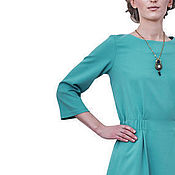 Одежда handmade. Livemaster - original item Fitted dress, green color. Handmade.