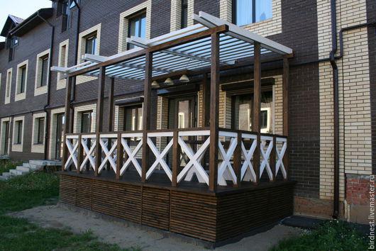 Патио зона, терраса, пергола - оригинальная альтернатива пресловутым верандам.