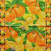Материалы для творчества handmade. Livemaster - original item 14pcs napkins for decoupage citrus Paradise print. Handmade.