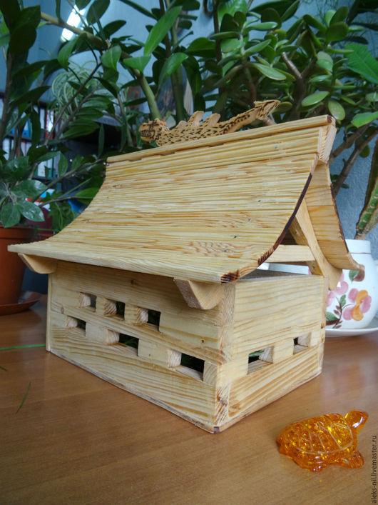Для других животных, ручной работы. Ярмарка Мастеров - ручная работа. Купить домик  деревянный для домашнего питомца черепашки  китайский стиль. Handmade.
