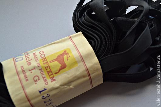 Шитье ручной работы. Ярмарка Мастеров - ручная работа. Купить Винтажная черная бархатная лента 10 мм.. Handmade. Черный