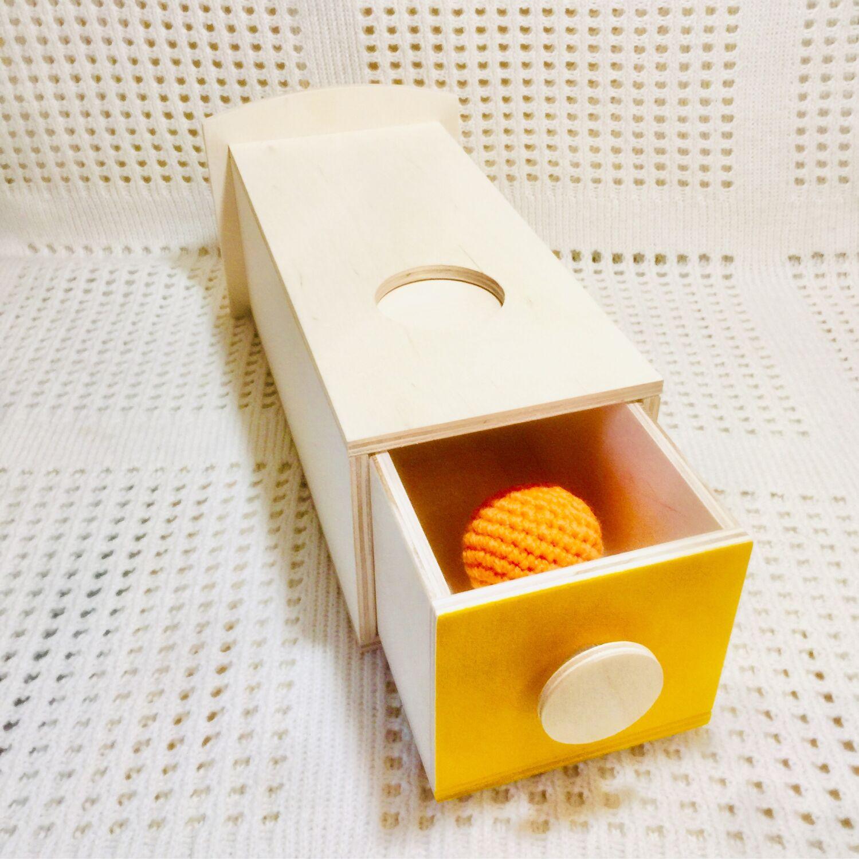 Монтессори коробочка с выдвижным ящиком, Кукольная еда, Москва,  Фото №1