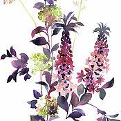 Картины и панно ручной работы. Ярмарка Мастеров - ручная работа Пурпурный букет. Handmade.