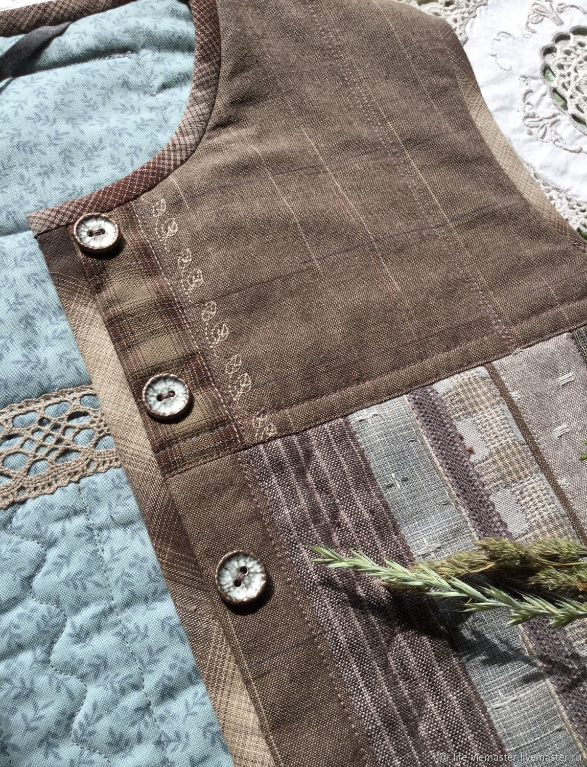 Vest quilted double 'the discreet charm of», Vests, Altaic,  Фото №1
